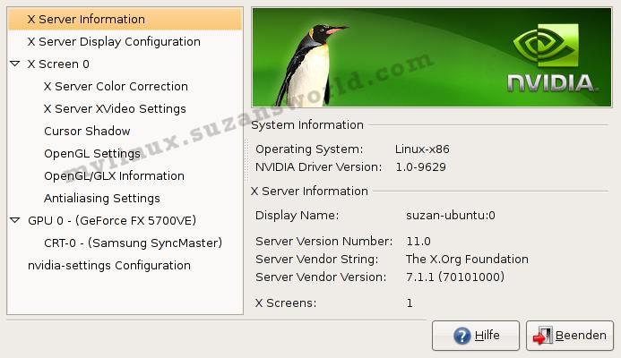 Settings nVidia 9629