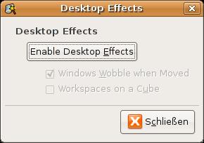 Desktopeffekte ermöglichen