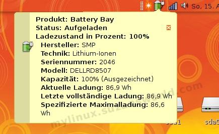 Batterie-Status