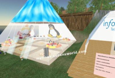 Ubuntu-Pyramide auf Second Life