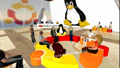 Ubuntu Sofa in Second Life