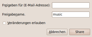 Ubuntu One - Ordner freigeben