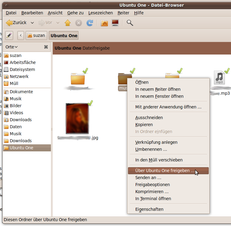 Ubuntu One Integration in Nautilus